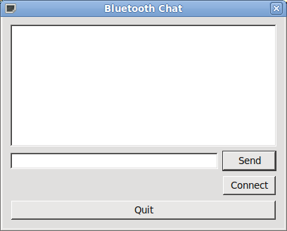 Qt Mobility 1 2: Bluetooth Chat Example