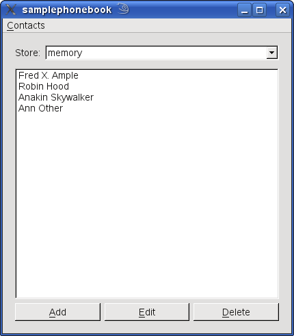 Qt Mobility 1 2: Sample Phonebook Example